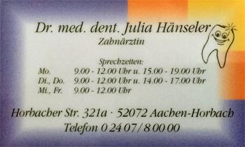 Dr.med.dent. Julia Hänseler
